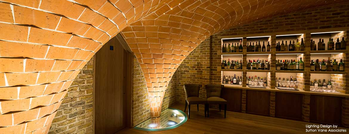 fiber optic lighting in the berry bros. & rudd wine merchants