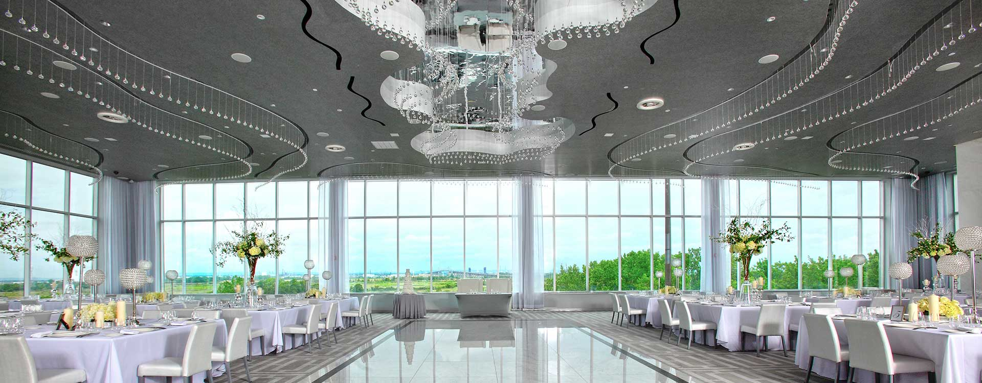 Amazing Glass Ball Ceiling Lighting In The Hilton Staten