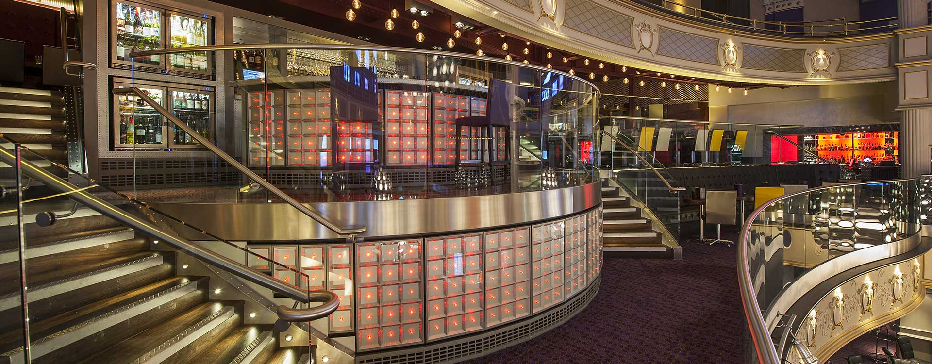 fiber optic lighting in the hippodrome casino
