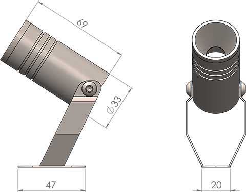 lb1 led fitting cad image
