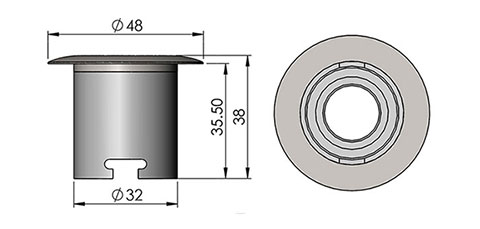 ld2 led fitting cad image
