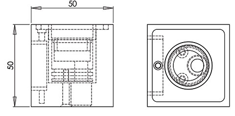 ld8 straight led fitting cad image