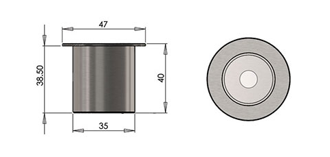 lp3 led fitting cad image