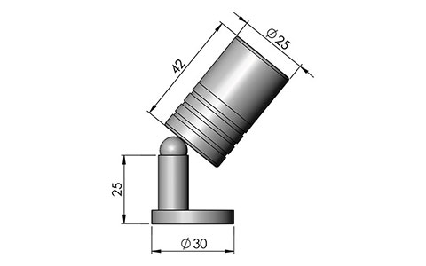 mbl2 led fitting cad image