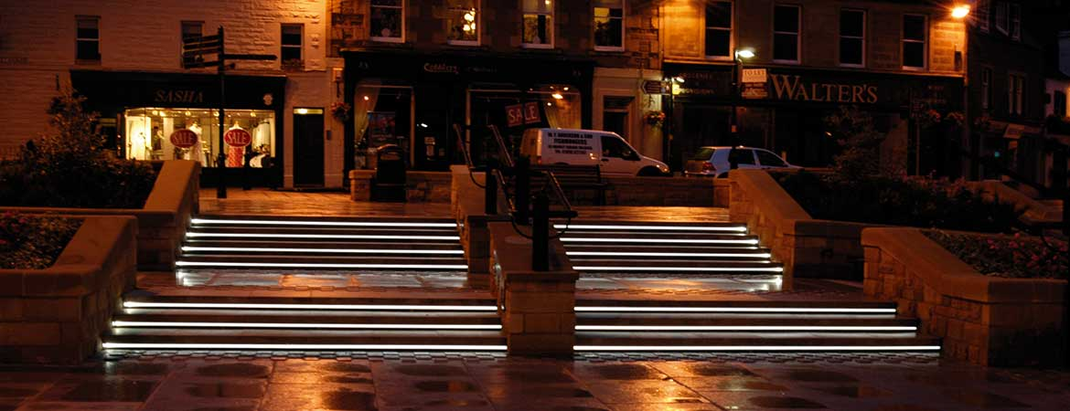 fiber optic lighting in melrose town centre