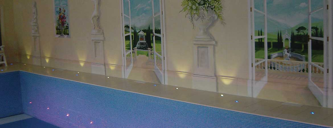fiber optic lighting in a private pool